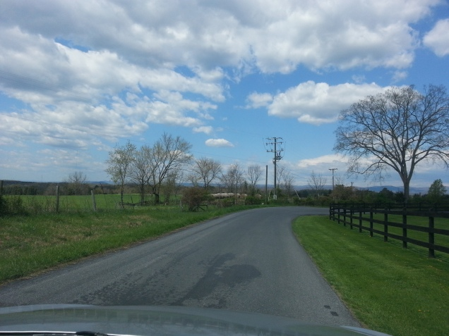 Country road outside of town.