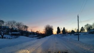 Sunday, 1/24: Sunset. It's been a lovely snowy weekend!
