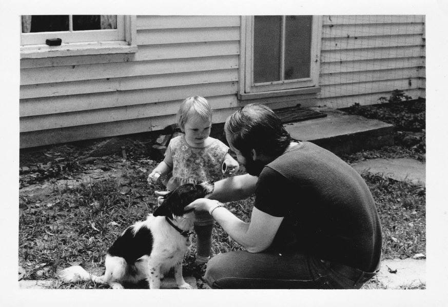 Dad and me (and a dog named Jinx), 1972.
