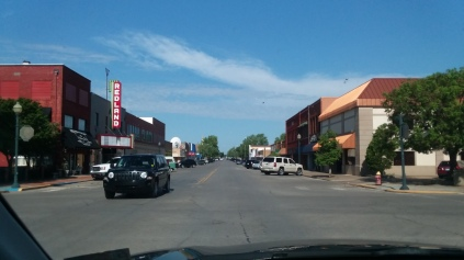 Downtown historic Clinton, Oklahoma. If I had money to invest in real estate, this is where I would do it. Beautiful place.