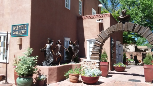 Santa Fe, New Mexico, where the artists dwell. I could've spent a week going through all the little shops.