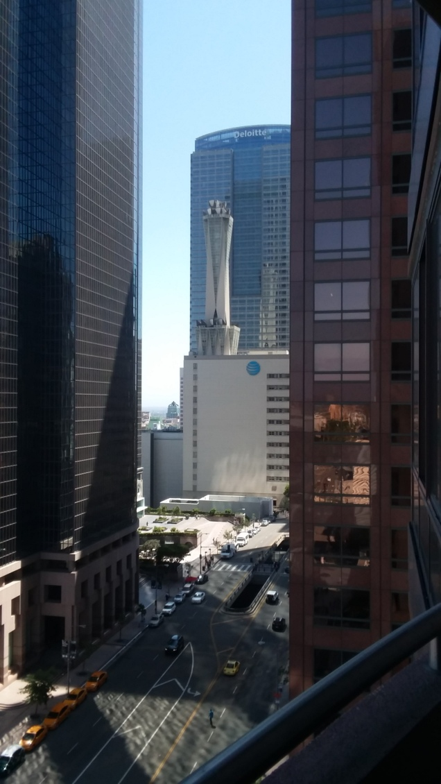 Downtown L.A., where I'm working now. It's confusing but definitely majestic. I'm looking forward to exploring more.