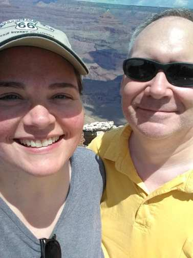 Grand Canyon selfie! That cutie pie by my side is my hubby of over two decades. Isn't he adorable?