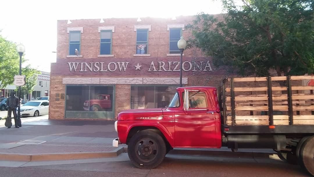 Takin' it easy in Winslow, AZ.
